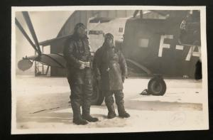 Mint France Real Picture Postcard RPPC Le Brourget Air Plane Early Aviation