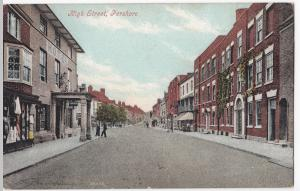 Worcestershire; Pershore, High St PPC, Unposted, c 1905 - 1910, By Valentines