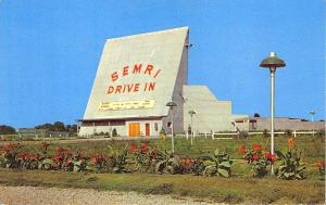 Silvas IL Semri Drive-In Theatre  Movie Marquee Postcard