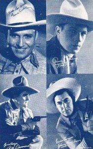 Cowboy Arcade Card Gene Autry Tom Tyler Bill Desmond & Johnny Mack Brown