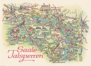 Saale Talsperren Die Saalekaskad Transport German Germany Map Postcard