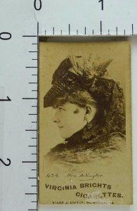 Allen & Ginter Virginia Brights Cigarettes Image Of Miss. Arlington F68