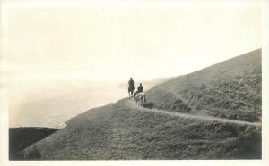 C-1920s Horseback Riders Central California Coast RPPC real photo postcard 7539