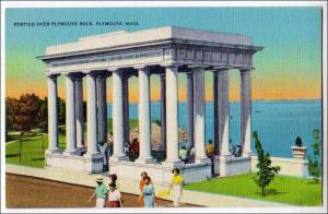 Portico over Plymouth Rock, Plymouth MA