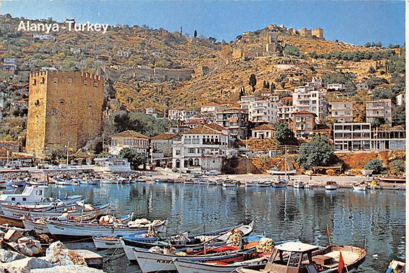 Turkey Alanya The Red Tower and The Boats Bateaux Port