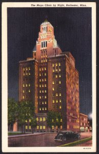 Rochester, MN - The Mayo Clinic by Night - 1949