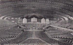 Interior Auditorium Showing The Largest Oran In The World Ocean Grove New Jer...