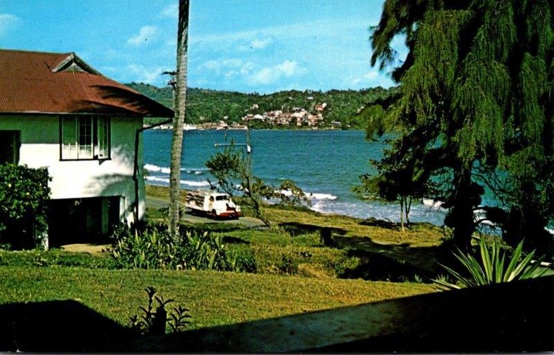 Tobago Greetings Showing Scarborough From Hotel Robinson Crusoe