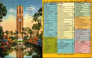 Humour Sunshine State Busy Correspondence Card 1945