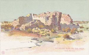 New Mexico An Adobe Ruin On The Mesa