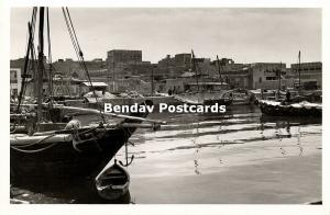 kuwait, Harbour Scene with Fishing Boats (1950s) Badran Studio RPPC