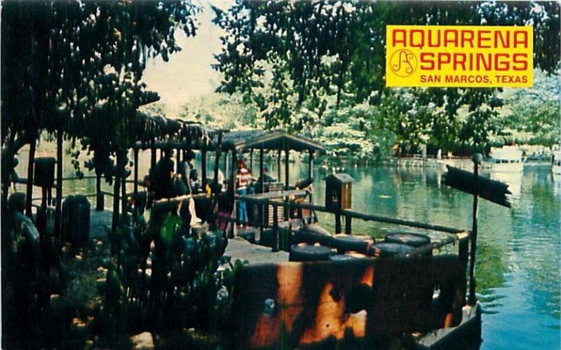 San Marcos Texas Aquarena Springs Pirates Ferry Boat Dead Man Lng Postcard 1960s