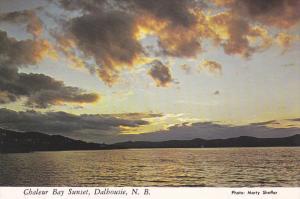 Sunset at Chaleur Bay,  Dalhousie,  New Brunswick,  Canada,  50-70s