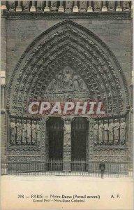 Old Postcard Paris - Notre Dame Portal Central