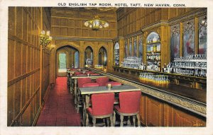 Old English Tap Room, Hotel Taft, New Haven, Connecticut, Unused Postcard