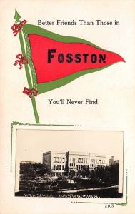 Never Better Friends in Fosston Minnesota~High School Mini RPPC~Pennant 1914