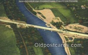 Dauphin County, PA USA Swatara Creek Bridge Road Side Postcard Post Cards  Da...
