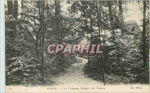 Old Postcard Epinal Chateau Ruins Trail