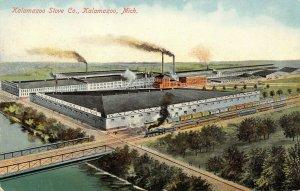 Kalamazoo MI~Kalamazoo Direct to You Stove Company~Factory~Train~Artist~1910