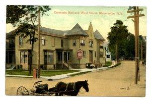NY -  Gloversville. Concordia Hall & West Street circa 1909
