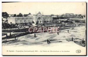 Old Postcard Lyon International Exhibition The Palace and Gardens Ilorticulture