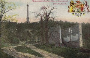 QUEENSTON, Ontario, Canada, 1900-1910's; Ruins Of First Printing House