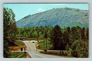 Atlanta GA- Georgia, Stone Mountain, Scenic Monolith, Vintage Chrome Postcard