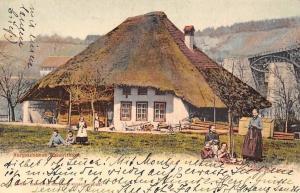 Switzerland Aargau Aargau Bauernhaus, ethnic folk costumes cottage house AK 1902