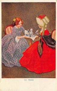 Charles Twelvetrees~Young Ladies~Days of Week~Friday~VictorianTea Time~Natl Art