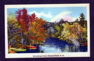 NH Greetings from CHESTERFIELD NEW HAMPSHIRE Linen PC