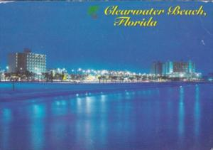 Florida Clearwater Beach At Night
