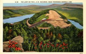 Loop on the Louisville & Nashville Railroad near Tennessee-Georgia Line