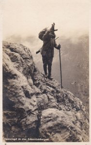 RP; Gemsjagd in den Schweizerbergen, Switzerland, 00-10s ; Hiker