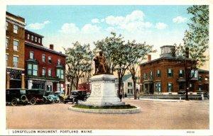 Maine Portland The Longfellow Monument Curteich