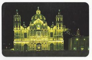 MMexico Virgin of Guadalupe Shrine at Night Our Lady Basilica Vtg Church Postcar