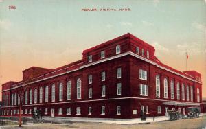 Forum, Wichita, Kansas, Early Postcard, Unused