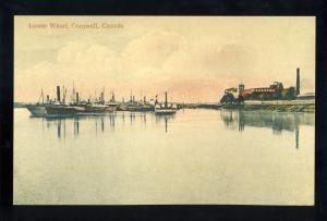 Cornwall, Ontario, Canada  Postcard, Lower Wharf