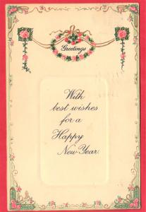 GREETINS HAPPY NEW  YEAR  1911 SERIES N4060 TUCKER POSTCARDS  3.5 X 5.5 SEE SCAN