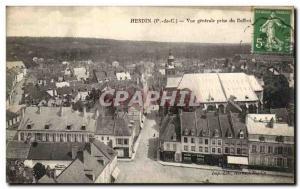 Old Postcard Hesdin Vue Generale Taking the Belfry