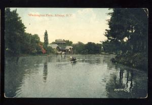 Albany, New York/NY Postcard, Washington Park, 1907!