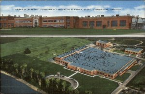 Coshocton OH E General Electirc Laminated Plastics Plant Linen Postcard