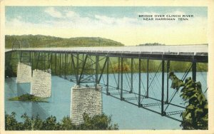 Commercialchrome Bridge Clinch River Harriman Tennessee 1920s Postcard 11220