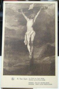 Belgium Eglise Notre-dame Le Christ en Croix Van Dyck - unposted 1953