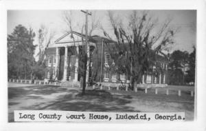 Ludowici Georgia Long Court House Real Photo Antique Postcard K59696