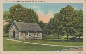 Vintage - Old Camp School House - Valley Forge Pa - Post Card Lynn H. Boyer