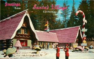 Amusement 1950s Santa's Village Postcard Skyforest California Crocker 1523