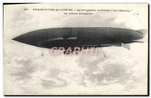 Old Postcard Jet Aviation Airship Zeppelin airship Military Lebaudy The full ...
