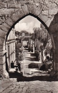 RP; GREBENSTEIN, Hesse, Germany, 1940-1950's; View Through The Castle Gate