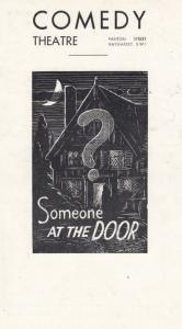 Someone At The Door Henry Kendall William Fox Comedy Theatre London Programme