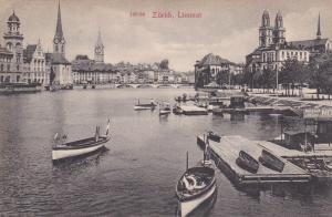 ZURICH , Limmat , Switzerland, 1900-10s